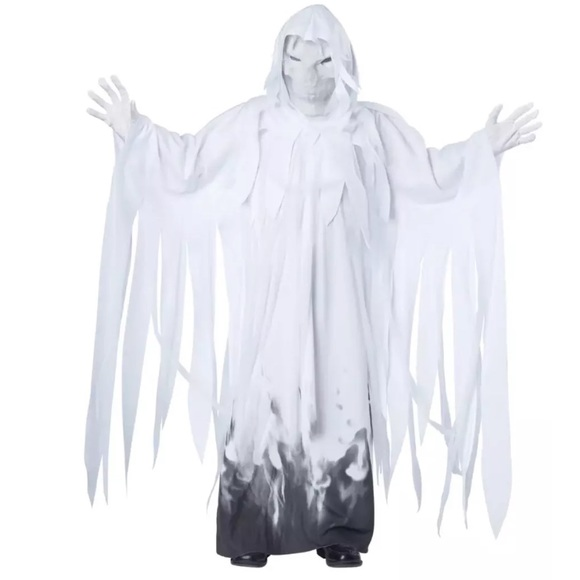 TOTALLY GHOUL WHITE SKELETON  HALLOWEEN COSTUME NWT CHILDS SIZE SMALL